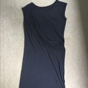 All Saints Sabie Draped Dress Blue Size 6